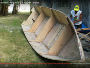 How To Build A Small Dinghy Using Plywood Step By Video Showing Cheap DIY